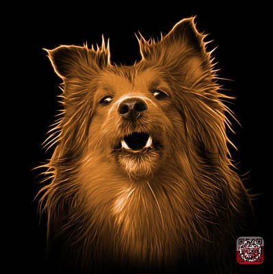Painting - Orange Sheltie Dog Art 0207 - Bb by James Ahn