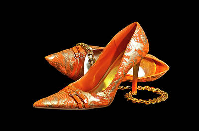 Photograph - Orange Shoe Lovely by Patti Deters