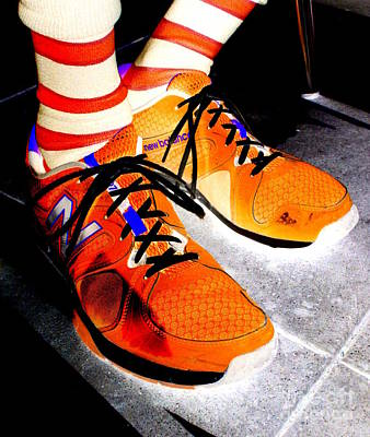 Orange Shoes And Socks Art Print by Randall Weidner
