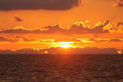 Orange Skies At Dawn Art Print