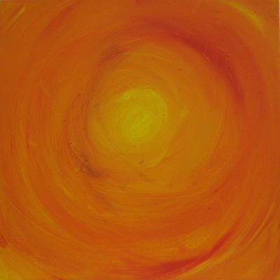 Second Chakra Painting - Orange Skies by Gina Hampton