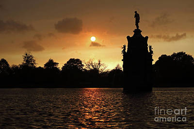 Photograph - Orange Sky At Bushy Park London 1 by Julia Gavin