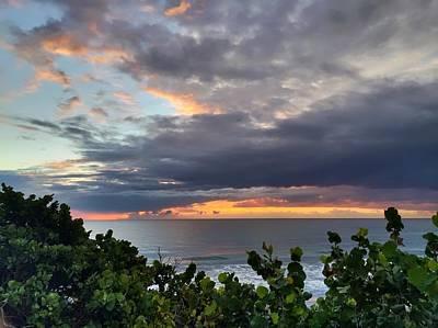 Photograph - Orange Sky by Juan Montalvo