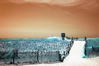 Photograph - Orange Sky Over Atlantic City by John Rizzuto