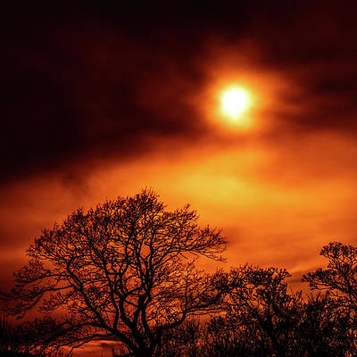 Art Print featuring the photograph Orange Sky by RKAB Works