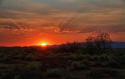 Photograph - Orange Sky Sunset  by Saija Lehtonen