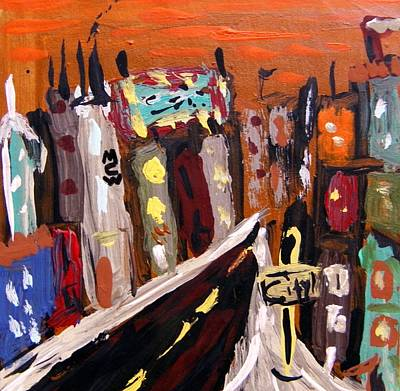 Jazzy Drawing - Orange Sky Tonight by Mary Carol Williams