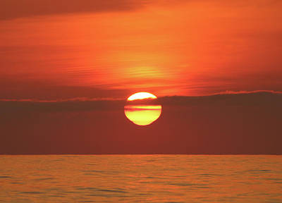 Photograph - Orange Sky Yellow Sun by Robert Banach