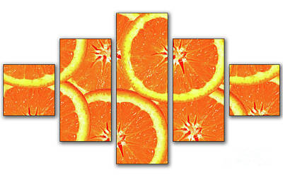 Photograph - Orange Slices by Cecil Fuselier