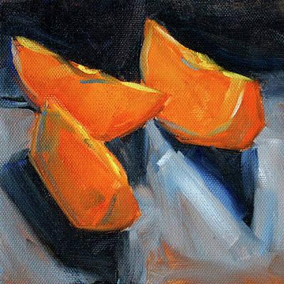 Painting - Orange Slices by Nancy Merkle