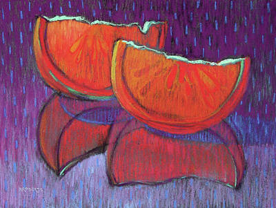 Painting - Orange Slices by Nancy Roberts