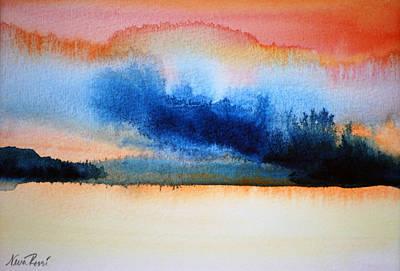 Orange Solitude Art Print by Neva Rossi