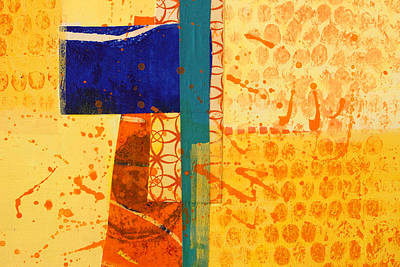 Painting - Orange Splatter 1 by Nancy Merkle
