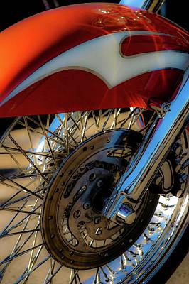 Photograph - Orange Spokes 5839 G_2 by Steven Ward