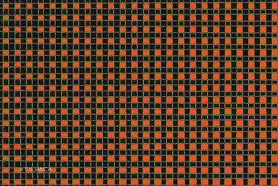 Digital Art - Orange Square Abstract by Tom Janca