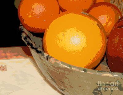 Photograph - Orange Still Life Abstract by Michael Hoard