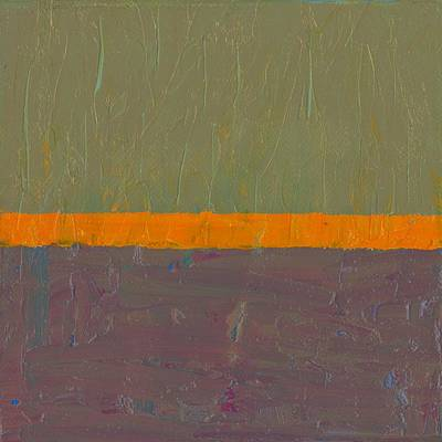 Painting - Orange Stripe With Grey by Michelle Calkins