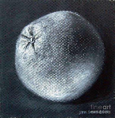 Drawing - Orange Study by John Small