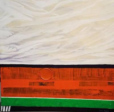Painting - Orange Sun In Retreat by Otis L Stanley