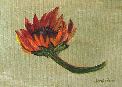 Painting - Orange Sunflower by Jamie Frier