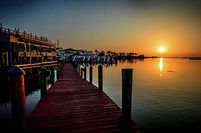 Photograph - Orange Sunrise At Tacky Jacks In Orange Beach Alabama by Michael Thomas