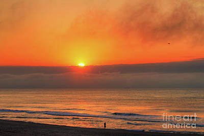 Photograph - Orange Sunrise On Long Beach Island by Jeff Breiman