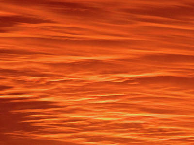 Photograph - Orange Sunset Abstract by Tony Grider