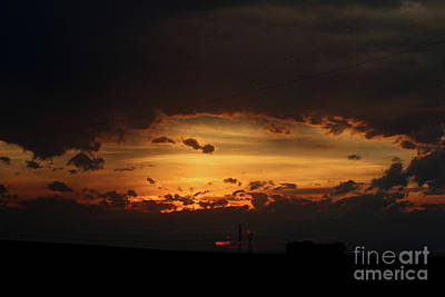 Photograph - Orange Sunset by Ann E Robson