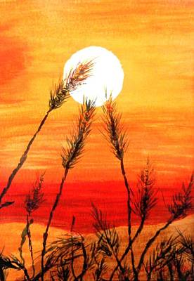 Painting - Orange Sunset by Jamie Frier