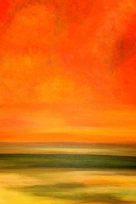 Orange Sunset Art Print by Marcia Crispino