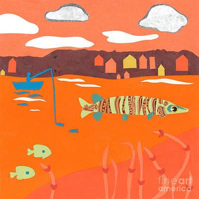 Orange Sunset Musky Art Print by Laura Lynne