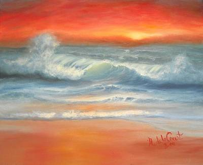 Painting - Orange Sunset by Natascha de la Court
