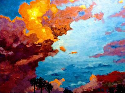 Painting - Orange Sunset by Ray Khalife