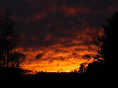 Photograph - Orange Sunset View A by Jacqueline Madden