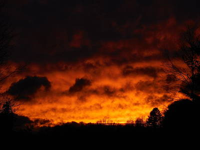 Photograph - Orange Sunset View B by Jacqueline Madden