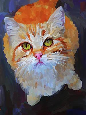 Kitten Painting - Orange Tabby Cat by Jai Johnson