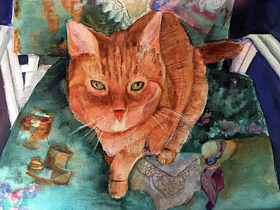 Painting - Orange Tabby by Lynne Atwood