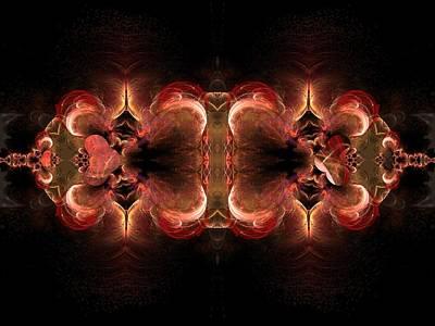 Digital Art - Orange Tapestry by Nancy Pauling