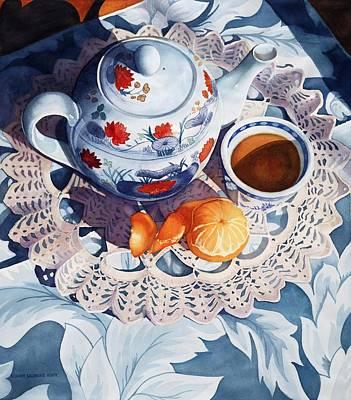 Orange Tea Art Print by Rosanne Wolfe