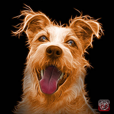 Painting - Orange Terrier Mix 2989 - Bb by James Ahn