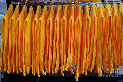 Photograph - Orange Towels Hung Up To Dry by Yali Shi