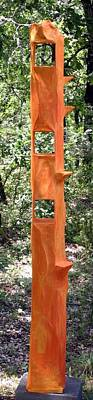 Sculpture - Orange Tower by Maria Rosa