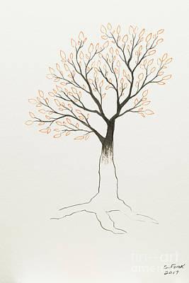 Painting - Orange Tree by Stefanie Forck