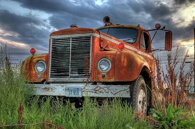 Photograph - Orange Truck by Dave Rennie