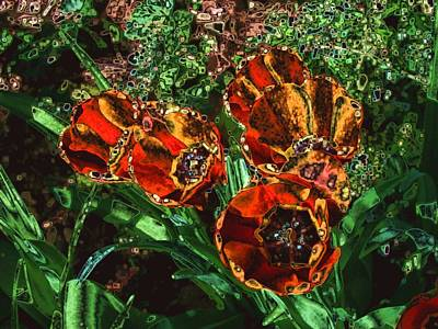 Photograph - Orange Tulip Chrome by Dave Martsolf
