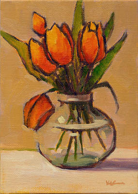 Painting - Orange Tulips by Konnie Kim