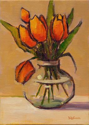 Painting - Orange Tulips by Konnie Kim