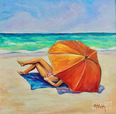 Painting - Orange Umbrella by Patricia Piffath