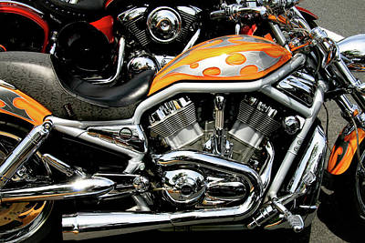 Photograph - Orange V-rod by Mark Alesse