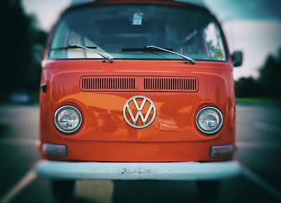Photograph - Orange Vw Van by Anthony Doudt